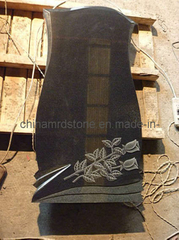 Absolute Black Granite Russian Style Cemetery Headstone