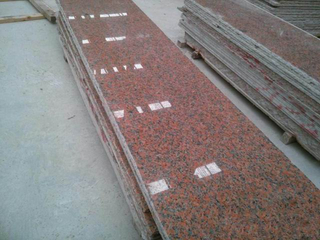 Maple Red Granite Stone Slabs with 100% Export Standard
