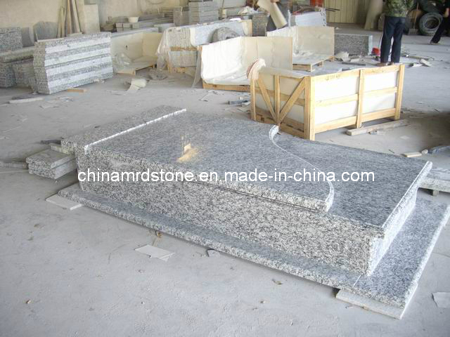Wave White Granite Monument for European Market
