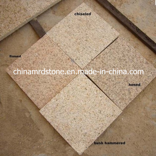 Polished / Flamed / Bush Hammered Rusty Yellow Granite Paving Tile