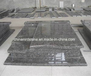 Tan Brown Double Style Granite Grave Monuments for Poland Market