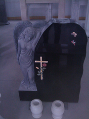 Shanxi Black Granite Angel Headstone / Angel Tombstone / Angel Monument