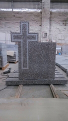 G664 Bainbrook Brown Granite Cross Monument Stone