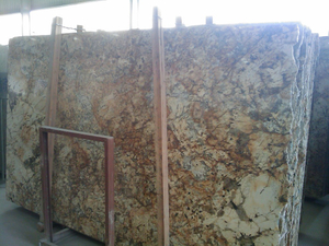 China Stone Granite and Marble Big Slabs (Beisa Gold)