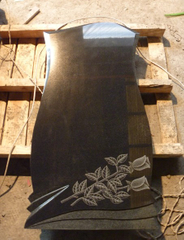 Absolut Black Grantie Headstone of Russia Style for Good Quality