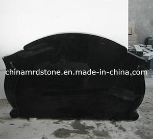 High Polished Shanxi Black Granite Funeral Monument for Russia