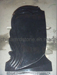 Shanxi Black Granite Russian Style Upright Cemetery Monument