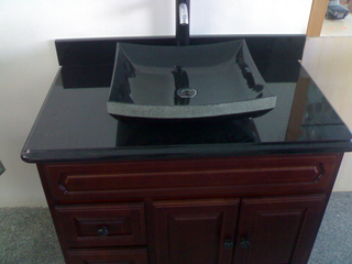 Customize Absolute Black Granite Washbasin for Bathroom