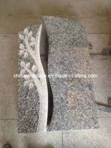 Carving Tomb Stone with Wave White Granite