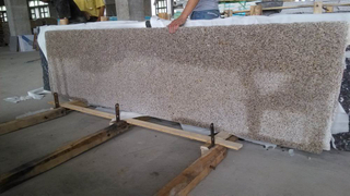 Local Granite Yellow G682 Small Slabs for Decorations
