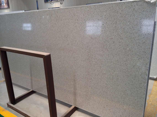 Popular Glass Crystal White Artificial Quartz Slab for Favorable Price