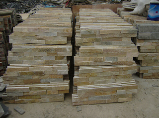 yellow Slate Culture Stone Cladding Stone