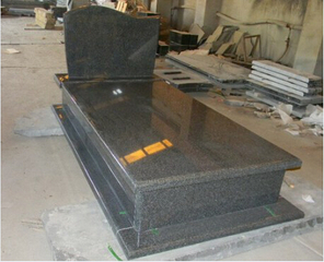 G654 China Impala Black Granite Double Tombstone for Hungary Market